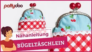 getlinkyoutube.com-DIY Bügeltasche - Kosmetiktasche mit Taschenbügel selber nähen