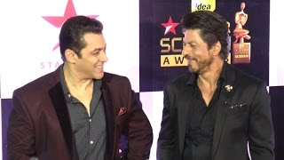 getlinkyoutube.com-Salman Shahrukh TOGETHER At Star Screen Awards 2016 Full Video HD
