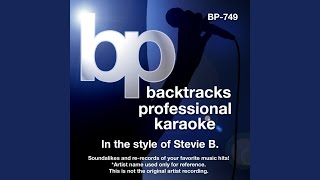Dream About You (Karaoke track With Background Vocal) (In the style of Stevie B)