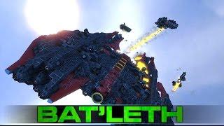 getlinkyoutube.com-Space Engineers - The 'Bat'leth' Corvette & Battle Testing (Building a Fleet)