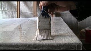 getlinkyoutube.com-Живопись. Секреты живописца. Как сделать высококачественный холст для живописи своими руками