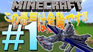 getlinkyoutube.com-【Minecraft】この世界は危険です!! #1【ゆっくり実況】