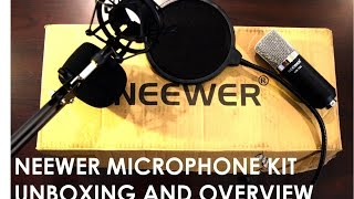 getlinkyoutube.com-Neewer NW-700  Condenser Microphone Kit Unboxing and Overview