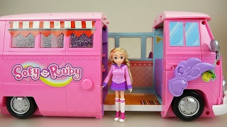 getlinkyoutube.com-Baby doll and Ruby camping car toy picnic play