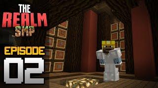 getlinkyoutube.com-Realms Multiplayer Survival Ep. 2 - STORAGE ROOM & MINING! - Minecraft PE (Pocket Edition)