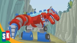 getlinkyoutube.com-Transformers Rescue Bots: Dinobots! (2/3) Optimus Loses Control
