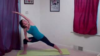 getlinkyoutube.com-Standing Yoga Flow for butt, thighs, legs and back