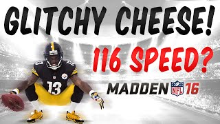 MUT 16 GLITCHY CHEESY GAME BREAKING ITEMS IN MADDEN 16 ULTIMATE TEAM? WTF +20 SPEED LOL
