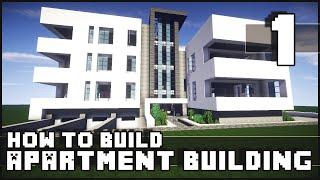 getlinkyoutube.com-Minecraft - How to Build : Modern Apartment Building - Part 1