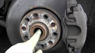 How to remove, install axle shaft, inspect clicking CV joint, VW Passat and Audi A4 A6 DIY driveaxle