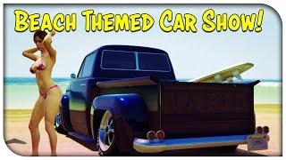 "getlinkyoutube.com-GTA 5 Online - ""BEACH / SUMMER"" THEMED CAR SHOW! [GTA V]"