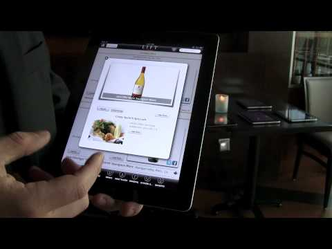 iPad menus at Lift restaurant