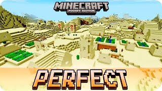 getlinkyoutube.com-Minecraft PE Seeds - Perfect Desert Seed with 3 Villages and 2 Temples - 0.16.0 / 0.15.0 MCPE