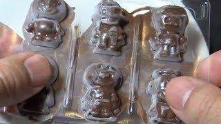 getlinkyoutube.com-Anpanman chocolate(Handmade) アンパンマンチョコレート(グミの空き容器を使った手作り)