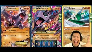 getlinkyoutube.com-New Promo Mega Aerodactyl Ex / Premonition Gallade Draw Control Fighting Deck