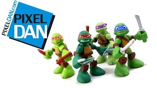 getlinkyoutube.com-Teenage Mutant Ninja Turtles Half-Shell Heroes Mini Figures Video Review