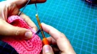 getlinkyoutube.com-طريقة عمل حذاء كورشية لطفل crochet baby shoes
