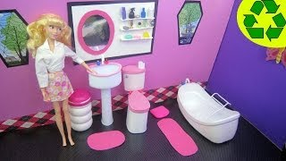 getlinkyoutube.com-Make a Doll Bathroom Sink - Doll Crafts - simplekidscrafts