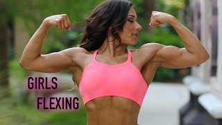 getlinkyoutube.com-Muscle Girls Flexing In Orlando