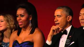 getlinkyoutube.com-Aretha Franklin Brings President Obama To Tears Performing At Kennedy Center Honors