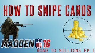 getlinkyoutube.com-HOW TO SNIPE CARDS IN MUT 16! l Road To Millions Episode 1