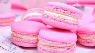 มาการองบัตเตอร์ครีม | Buttercream Macaron | Pink Macaron