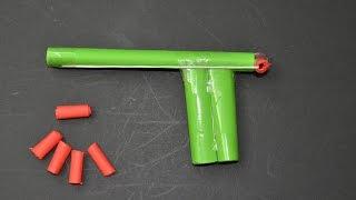 getlinkyoutube.com-Como hacer Pistola de Papel que Dispare | Armas Caseras Fáciles