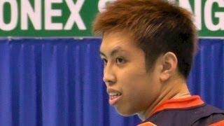 getlinkyoutube.com-Badminton MS Final リー・チョンウェイ vs 田児賢一 1G-2 Yonex Open Japan 2013.9.22