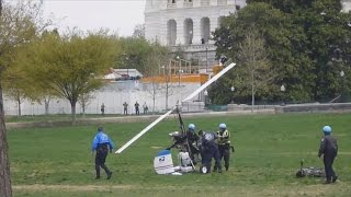 getlinkyoutube.com-Watch: Man lands gyrocopter on U.S. Capitol's west lawn
