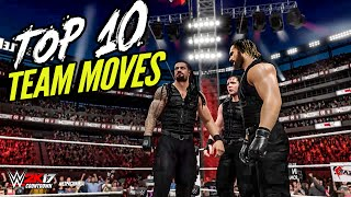 getlinkyoutube.com-WWE 2K16 TOP 10 TAG TEAM MOVES! | WWE 2K17 Countdown