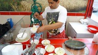 getlinkyoutube.com-Hand Made Afgan Kulfi Ice Cream (Sheer-Yakh); Original Afganistan Street Food at Kabul Grill House.