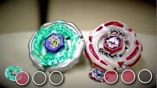 getlinkyoutube.com-BEYBLADE Ray Striker D125CS VS Meteo Ldrago LW105LF - SPECIAL GUEST BATTLE!!