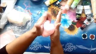 getlinkyoutube.com-Soguk Porselen Hamuru nasil boyanir