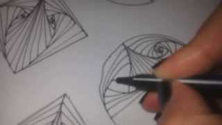 getlinkyoutube.com-How to draw PARADOX tangle pattern