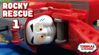"getlinkyoutube.com-Thomas and friends ""Rocky Rescue"" Rocky Got Derailed & Fell Off the Track remake1"
