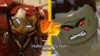 getlinkyoutube.com-[PS4] Hulkbuster VS Hulk [Movie VS LEGO]