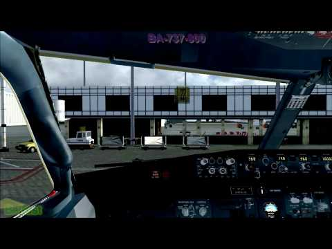 FSX Flight Simulator X HD British Airways-737-800 Cockpit Landing Real Sounds i7 920 Alienware 1080p