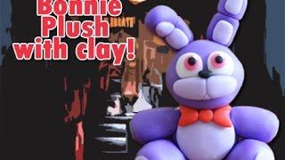 getlinkyoutube.com-Bonnie Plush Version Five Nights at Freddy's Tutorial Polymer clay / Porcelana fria / Cold porcelain