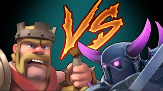 getlinkyoutube.com-Clash Of Clans PEKKA vs KING (DUEL to the DEATH)