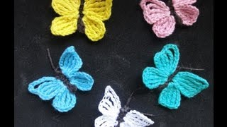 getlinkyoutube.com-БАБОЧКА Вязание крючком  BUTTERFLY Crochet