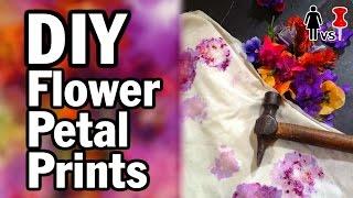 getlinkyoutube.com-DIY Flower Petal Prints - Corinne Vs. Pin #10 - Pinterest Test