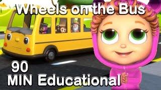 getlinkyoutube.com-Wheels on the Bus | Educational Nursery Rhyme Compilation