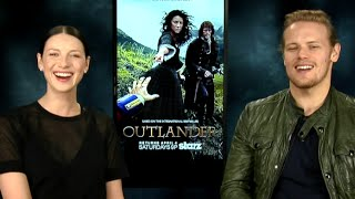 getlinkyoutube.com-Hilarious Outlander Interview!! Caitriona Balfe & Sam Heughan on Game of Thrones & More!
