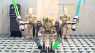 LEGO Star Wars General Grievous vs Agen Kolar