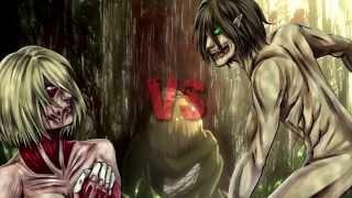 getlinkyoutube.com-ไททันเอเลน VS  ไททันเพศหญิง attack on titan