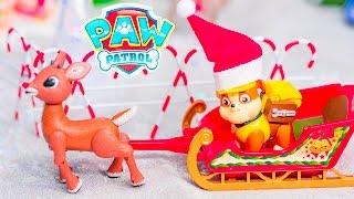 getlinkyoutube.com-PAW PATROL Nickelodeon Paw Patrol Christmas Rubble Clause a Paw Patrol Video Parody