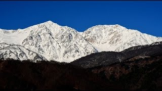 getlinkyoutube.com-白銀の北アルプスが美しい小川村と白馬村・4K撮影