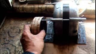 getlinkyoutube.com-КАК СДЕЛАТЬ ШКИВ НА ДВИГАТЕЛЬ БЕЗ ТОКАРЯ .  HOW TO MAKE THE ENGINE PULLEY
