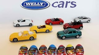 getlinkyoutube.com-Surprise Eggs Cars toys! Unboxing of Welly models!