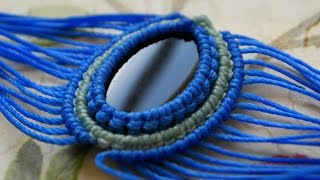 getlinkyoutube.com-A Different Macrame Style of Adding a New Color Around Your Cabochon